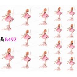 Naklejki wodne B492 Pink