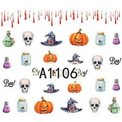Naklejka Wodna Halloween A1105