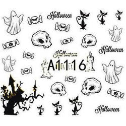 Naklejka Wodna Halloween A1115