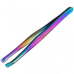 Profesjonalna pęseta kosmetyczna prosta Kobalt - karbowana