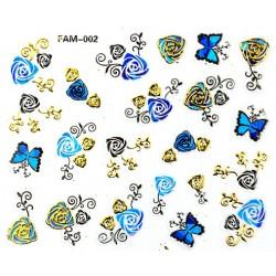 Naklejki na paznokcie 3D -FAM 001