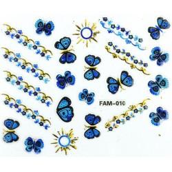 Naklejki na paznokcie 3D -FAM 009