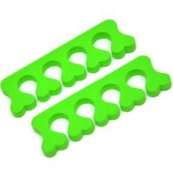 Seperatory do pedicure zielone 2szt