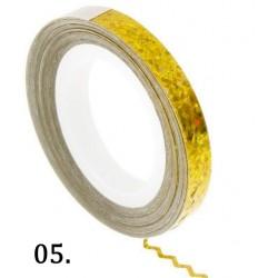 Nitka do zdobień falowana - złota opal 05