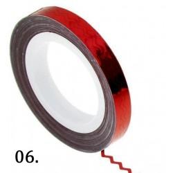Nitka do zdobień falowana -czerwona 06