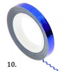 Nitka do zdobień falowana - niebieska 10