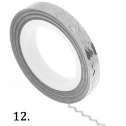 Nitka do zdobień falowana - srebrna 10