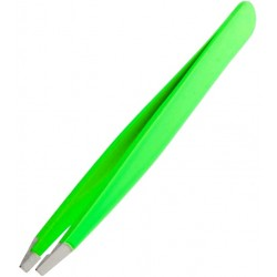 Pęseta kosmetyczna skośna zielona
