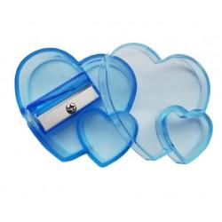 Temperówka kosmetyczna SERCE BLUE
