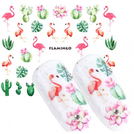 Naklejka wodna 962 flamingo