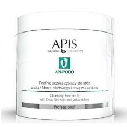 APIS Peeling oczyszczający do stóp z solą z Morza Martwego i lawą wulkaniczną 700g