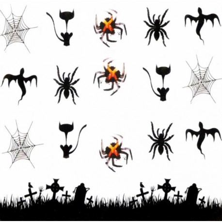 Naklejka Wodna Halloween A1124