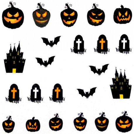 Naklejka Wodna Halloween A1128