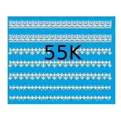 Naklejki wodne koronki 55K