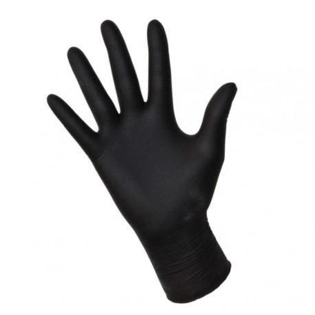 Rękawice Nitrylowe  czarne roz. XL