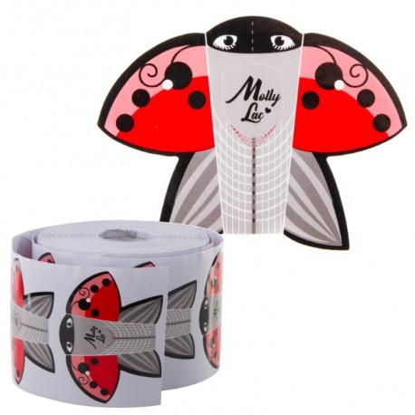 Szablony formy do paznokci 500szt dwustronne szpic Molly Lac