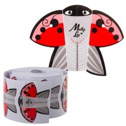 Szablony formy do paznokci 50szt Ladybug biedronka Molly Lac
