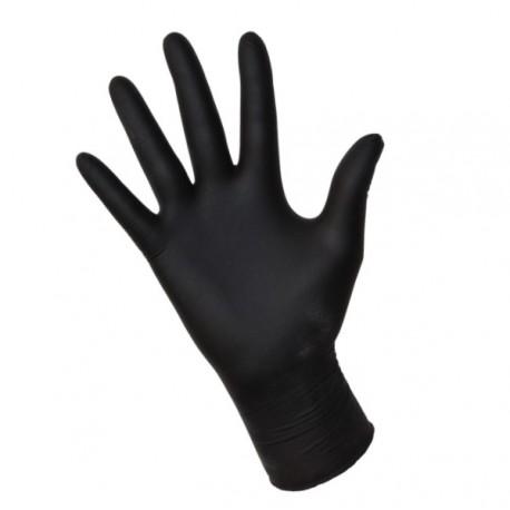 Rękawice Nitrylowe  czarne roz. S
