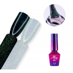 Top No Wipe MAGIC MOOD MOLLYLAC Z DROBINKAMI SILVER MALACHITE 5 ML