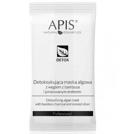 APIS Detoksykująca maska algowa z węglem z bambusa, 20g