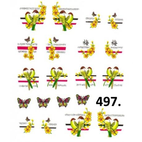 Naklejki wodne 497
