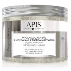 APIS INSPIRATION - Wygładzająca sól do kąpieli z minerałami z Morza Martwego, algami morskimi i drobinkami kokosa 650G