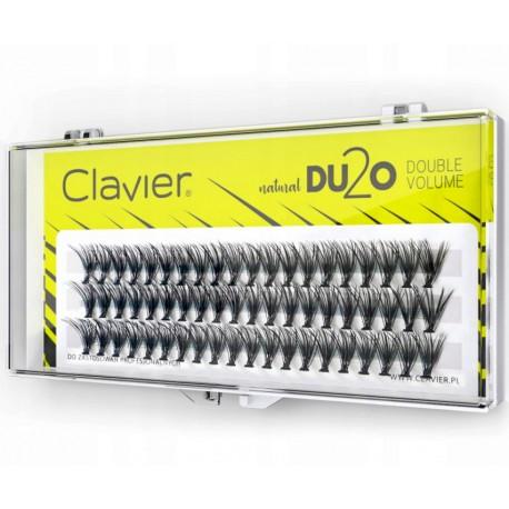 KĘPKI RZĘSY CLAVIER DU2O DOUBLE VOLUME 12mm