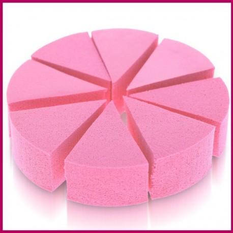 Gąbka kosmetyczna lateksowa biała, różowa