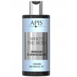 APIS Who's the boss Energizujący żel do mycia ciała 3 w 1