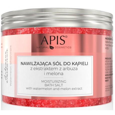 APIS Arbuzowa sól nawilżająca do kąpieli z melonem 650g