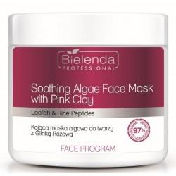 Bielenda  Kojąca maska algowa do twarzy z Glinką Różową