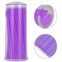 Mikroszczoteczki fioletowe 1mm  - 100szt