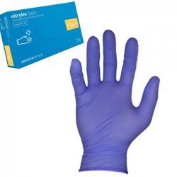 Rękawice Nitrylowe, bezpudrowe XS Niebieskie