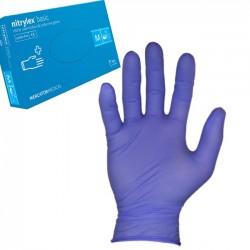 Rękawice Nitrylowe, bezpudrowe M Niebieskie