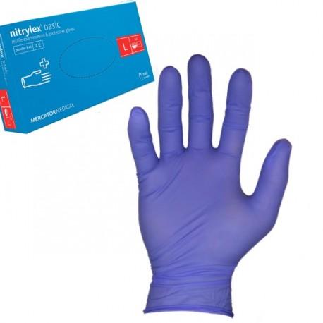Rękawice Nitrylowe, bezpudrowe L Niebieskie