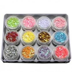 Kółka z dziurką - kompakt 12 kolorów