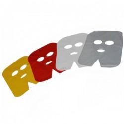 Maski zabiegowe foliowe żółte 100szt