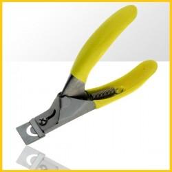 Profesjonalna gilotyna do tipsów antypoślizgowa - żółta