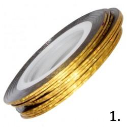 Nitka do zdobień złota opalizująca 01
