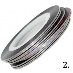Nitka do zdobień srebrna opalizująca 02