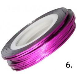Nitka do zdobień różowa opalizująca 06