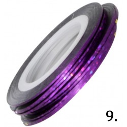 Nitka do zdobień fioletowa opalizująca 09
