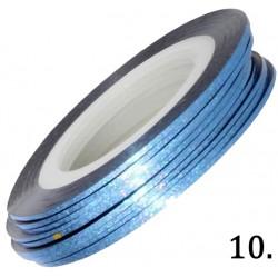 Nitka do zdobień light blue opalizująca 10
