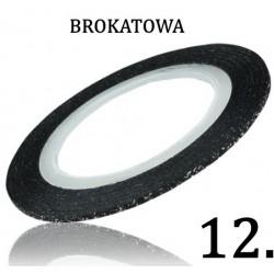Nitka do zdobień czarna brokatowa 12
