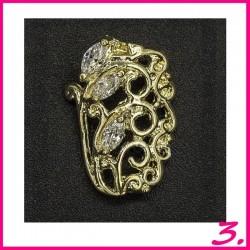 Biżuteria na paznokcie 3D z cyrkoniami 03