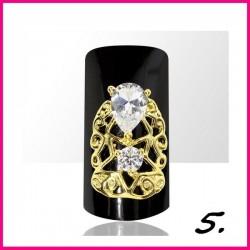 Biżuteria na paznokcie 3D z cyrkoniami 05