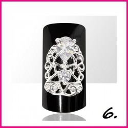 Biżuteria na paznokcie 3D z cyrkoniami 06