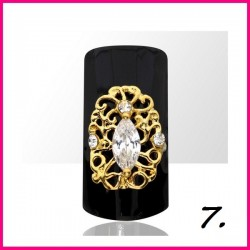Biżuteria na paznokcie 3D z cyrkoniami 07