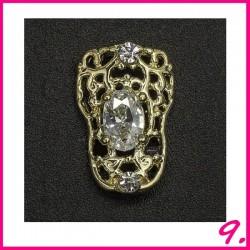 Biżuteria na paznokcie 3D z cyrkoniami 09