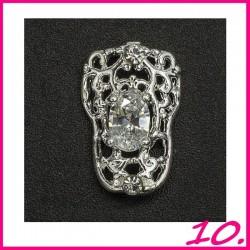 Biżuteria na paznokcie 3D z cyrkoniami 10